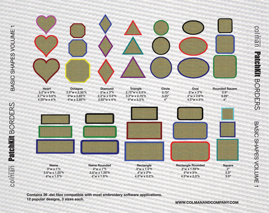Patchkit Borders Cd Shapes Vol 1 Colman And Company