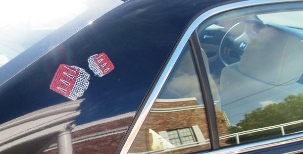 Rhinestones Car Decal Sample - Knuckle Up Gym
