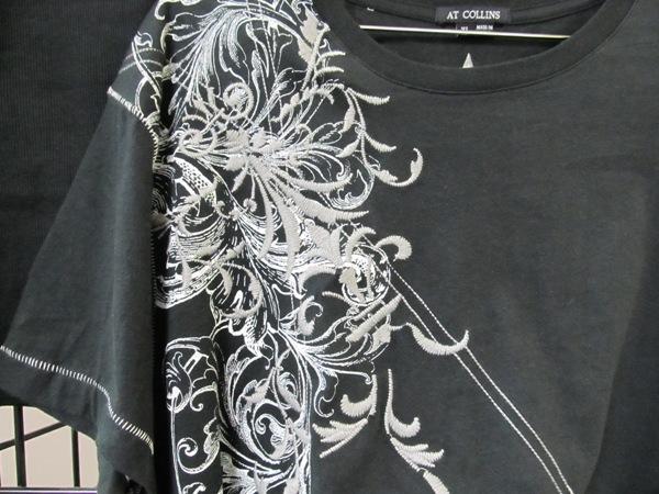 SWF Embroidery Sample - Gray Tee Shirt
