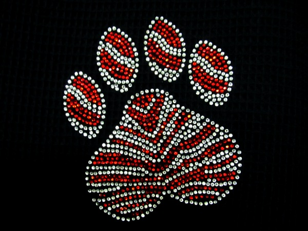 Hotfix Rhinestone Transfer Paw Sample