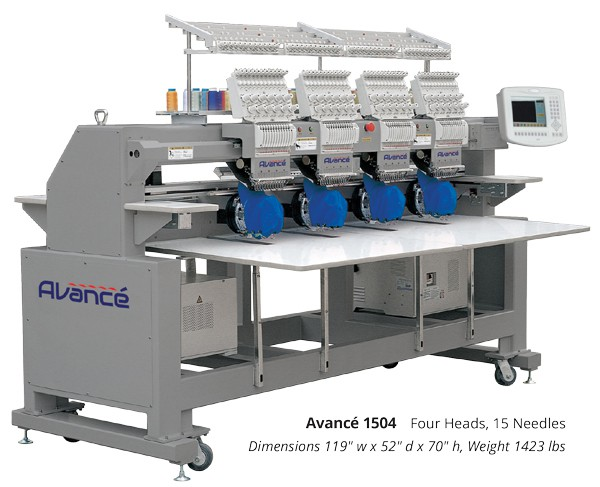 Avancé 4 Head Professional Embroidery Machine