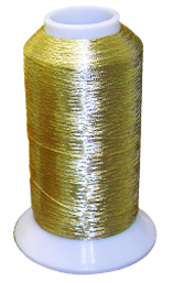 Gold Metallic thread from Colman and Company can give you high quality commercial embroidery without busting your budget!