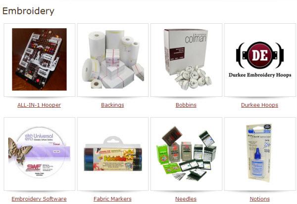 Embroidery E-Commerce Site