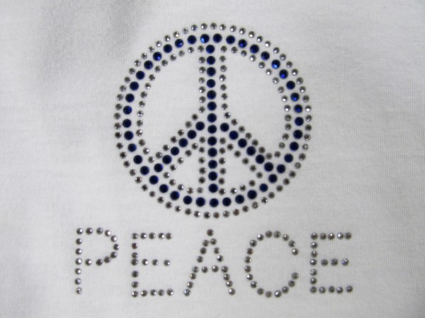 Peace Hotfix Rhinestone Design