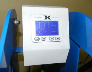 geo knight heat press to 330 degrees