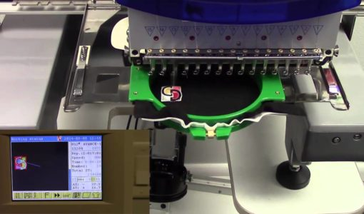 image of machine demonstrating an embroidery business at home