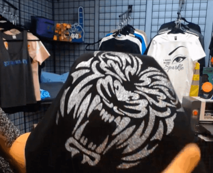 image of tiger done with htv