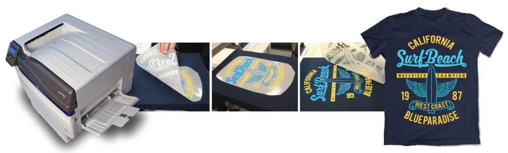 images of transfer paper and white underbase