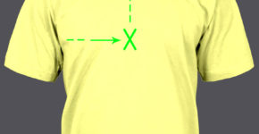 image of full front t-shirt placement for heat transfers