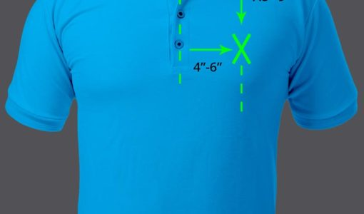 image of polo shirt showing embroidery placement